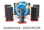 computer server racks around... | Shutterstock . vector #1031142139