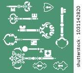 keys stencils set | Shutterstock .eps vector #1031142820