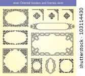 oriental asian vector borders ... | Shutterstock .eps vector #103114430