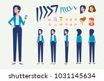 front  side  back  3 4 view... | Shutterstock .eps vector #1031145634