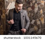 handsome young elegant man pose ... | Shutterstock . vector #1031145670