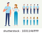 man and woman couple. front ...   Shutterstock .eps vector #1031146999