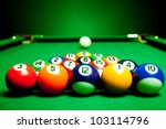 Fifteen Billiard Spheres Lay O...