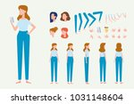 young  girl for animation.... | Shutterstock .eps vector #1031148604