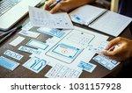 ux designer workspace creative...