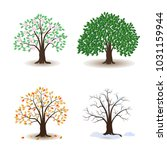 tree and seasons | Shutterstock .eps vector #1031159944