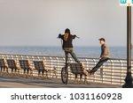 long beach  new york   02 21...   Shutterstock . vector #1031160928