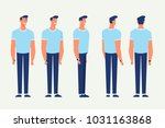 young man for animation. front  ... | Shutterstock .eps vector #1031163868