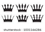 set of four black crowns for... | Shutterstock .eps vector #1031166286
