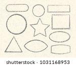 set of ten grunge vector... | Shutterstock .eps vector #1031168953