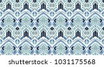 ikat geometric folklore... | Shutterstock .eps vector #1031175568