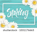chamomile flowers and white... | Shutterstock .eps vector #1031176663