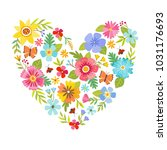 colorful heart shape made from... | Shutterstock .eps vector #1031176693