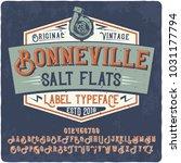 original vintage label typeface ... | Shutterstock .eps vector #1031177794