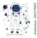 space illustration vector.   Shutterstock .eps vector #1031179810