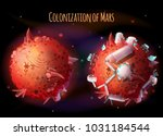 colonization  exploration and... | Shutterstock .eps vector #1031184544