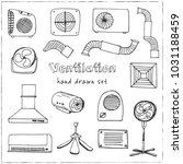 ventilation hand drawn doodle... | Shutterstock .eps vector #1031188459