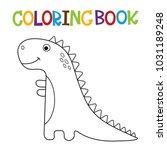 cute dino coloring book.   Shutterstock .eps vector #1031189248