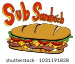 an image of a cold cut sub...   Shutterstock .eps vector #1031191828