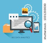 big data set icons | Shutterstock .eps vector #1031203030