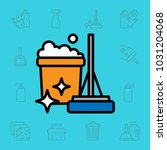 set of cleaning tools icons.... | Shutterstock .eps vector #1031204068