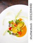 ravioli with vegetable ...   Shutterstock . vector #1031204440