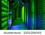 data center  server room. web... | Shutterstock . vector #1031206543
