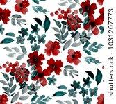 watercolor seamless pattern... | Shutterstock . vector #1031207773