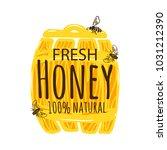 honey vintage label isolated on ... | Shutterstock .eps vector #1031212390