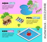 aquapark horizontal web banners ... | Shutterstock .eps vector #1031214448