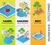 aquapark vertical web banners... | Shutterstock .eps vector #1031214460
