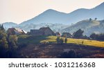 rural landscape. early morning... | Shutterstock . vector #1031216368