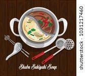 shabu sukiyaki soup...   Shutterstock .eps vector #1031217460