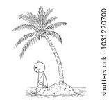 cartoon stick man drawing... | Shutterstock .eps vector #1031220700