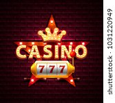 casino star frame banner text... | Shutterstock .eps vector #1031220949