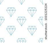 thin line diamond seamless... | Shutterstock .eps vector #1031225224