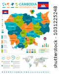 cambodia  infographic map and... | Shutterstock .eps vector #1031225248