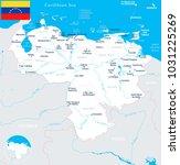 venezuela  map and flag   high... | Shutterstock .eps vector #1031225269