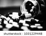 pills in capsules | Shutterstock . vector #1031229448