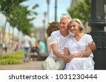 senior couple on city street   Shutterstock . vector #1031230444