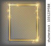 the gold sparkling square frame ... | Shutterstock .eps vector #1031239588