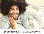 man in a bedroom | Shutterstock . vector #1031240944