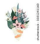vector illustration bouquet of... | Shutterstock .eps vector #1031241160