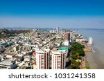 a top view of guayaquil city in ... | Shutterstock . vector #1031241358