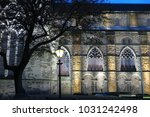 durham cathedral in the evening | Shutterstock . vector #1031242498