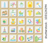 kids related icons 1 | Shutterstock .eps vector #103124294