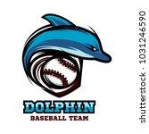 baseball dolphin logo vector   Shutterstock .eps vector #1031246590