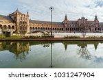 spanish style castle | Shutterstock . vector #1031247904