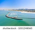 st kilda beach aerial with... | Shutterstock . vector #1031248060