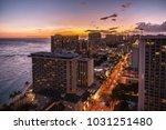 townscape of dusk resort | Shutterstock . vector #1031251480